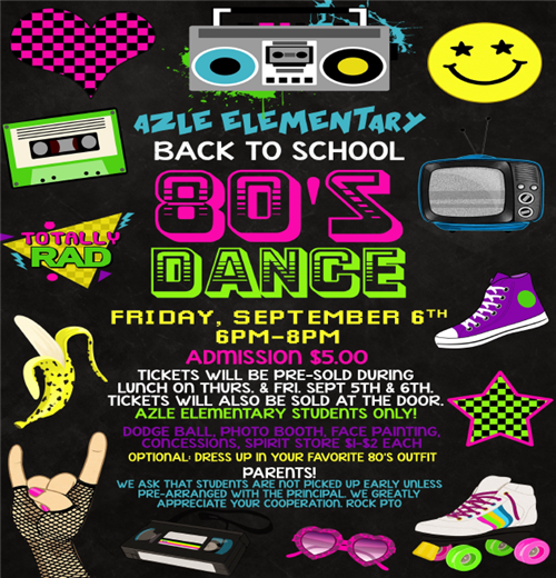80s Back to School Dance