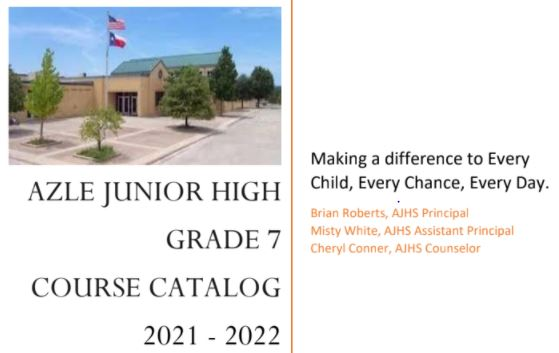 2021-22 Incoming 7th Grade Course Selection Information