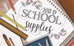 School Supplies for 2019-20