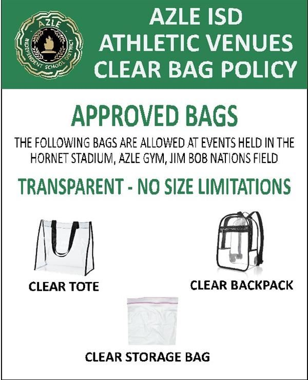 clear bags sign