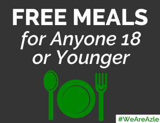 free meals for anyone 18 or younger